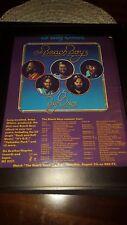 The Beach Boys 15 Big Ones Rare Original Promo Poster Ad Framed!