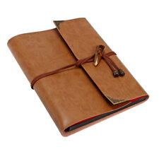 Vintage PU Leather Photo Album Case Memory Book Paste DIY Scrapbook 60 Holds