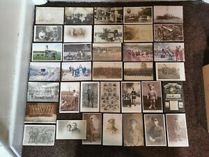 2 X Postcard Albums - WW1 Military - British German French. Silks - 230 Cards