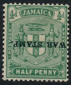 Jamaica 1916 War Stamp SG 68c MM Opt inverted (rare) cat. £130