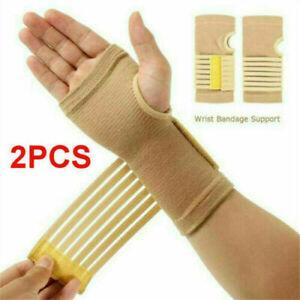 2x Right+Left Wrist Hand Brace Support Carpal Tunnel Sprain Arthritis Gym Sport
