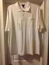 NWT Saddlebred White Polo Shirt XXL- Men's