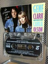 GENE CLARK & CARLA OLSON cassette tape So Rebellious a Lover 1987 Byrds