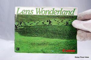 Canon Lens Wonderland system brochure booklet Guide Genuine (EN) AE-1 FD