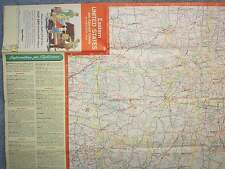 1961 EASTERN UNITED STATES AND ADJACENT CANADA INTERSTATE MAP ESSO  USED