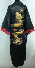 Double-face Chinese silk/satin Men's Kimono Robe Gown bathrobe Dragon Kimono Hot
