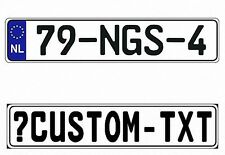 New Netherlands EEC European Front License Plate (Custom)