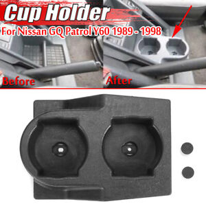 Black Cup Holder Coffee Insert Drink Stand Auto For Nissan GQ Patrol Y60 89-1998