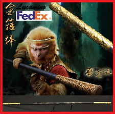 New Wooden Monkey King Staff Kungfu Wooden Wushu Sticks Monkey Cudgels Carving