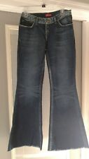 "REPLAY DENIM JEANS SIZE 28 DARK WASH DENIM FRINGED HEMS  30"" W 8"" R 33"" I ITALY"