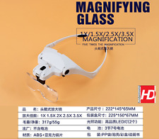 Kung Fu Model Headset Magnifier 1.0X - 3.5X with LED Light