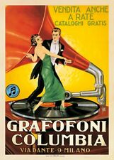 Grafofoni Columbia, 1920 ca. Art Print Vintage Victrola Milano Poster 53x38