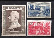 France 1944 Yvert n° 606 à 608 neuf ** 1er choix
