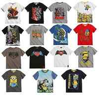 Boys Official Licensed Various Summer Short Sleeve T Tee Shirt Top 6 - 14 Years