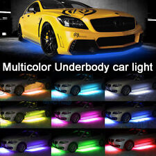 RGB LED Under Car Wireless Remote Tube Strip Underbody Neon Light For Mitsubishi