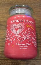 Yankee Candle Large Summer Love First Kiss Rare Limited Edition
