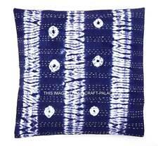Indian Shibori Tie Dye Cotton Kantha Cushion Cover Covers Handmade 16x16 decor