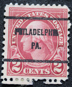 Stamp 2 Cent Washington 1926 USA Scott 634, Ovpt Philadelphia