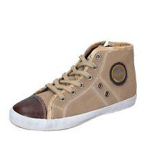 scarpe bambina 1a CLASSE ALVIERO MARTINI sneakers beige camoscio BM354