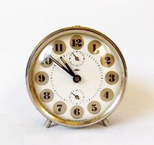 Vintage 1970s PRIM Alarm clock Czechoslovakia Retro Old Desk table watch decor