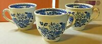 Wood's Ware-3x Espresso Mugs-Porcelain-Ceramic-Tableware-Ornamental-Vintage