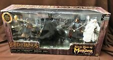 LORD OF RINGS  BLACK GATE OF MORDOR DELUXE 6-FIG SET MOUTH SAURON & STEED MISB