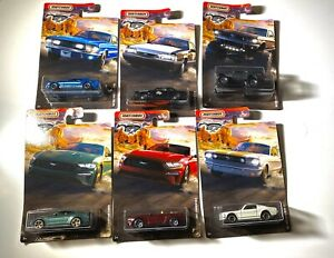 Matchbox Ford Mustang Set Of 6 First Wave (#1-6) '18 Mustang Convertible
