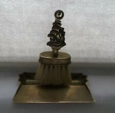 "Vintage ""The Revenge""  Brass Table Crumb Brush/Tray"