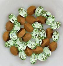 Swarovski 4100 Chrysolite 8x6mm Vintage Crystal Stones Foiled - 6 Pieces