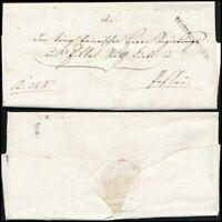1818, EGGENFELDEN, portofreier Dienstbrief nach Passau inkl. Protokoll-Abschrift