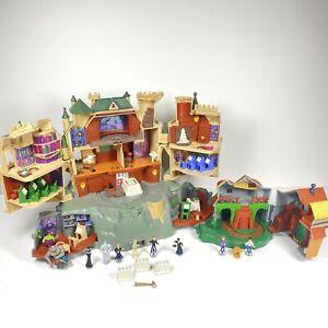 HARRY POTTER Polly Pocket Hogwarts Castle & Weasly House 2001 Mattel