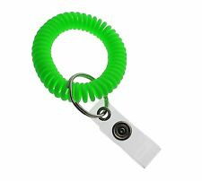 5 Pack - Ultimate Elastic Wrist Band Coil Key Ring & ID Badge Holder Bungees
