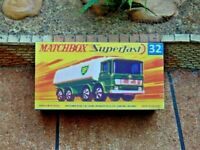 MATCHBOX SUPERFAST NO.32A LEYLAND TANKER  CUSTOMISED DISPLAY/STORAGE BOX ONLY