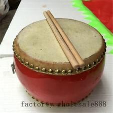 "Hot Chinese Biangu Drum Advertising Pur Lion Dance Chinese Folk Art Toy Gift 6"""