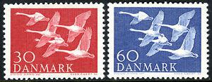 Denmark 361-362, MLH. Whooper Swans, 1956