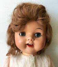"""Vintage 1950's 22"""" Saucy Walker Doll With Vintage Clothing"""