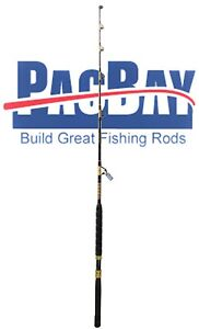 Xcaliber Marine Tournament Series 80-130lb Saltwater Trolling Rod Red and Gold