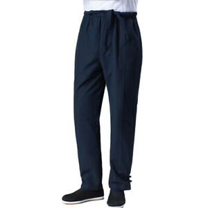Linen Kung Fu Wingchun Pants Martial Arts Tai Chi Trousers Ankle-Tied Pants Belt