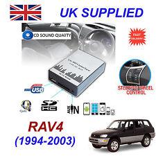 RAV4 1994-2003 MP3 SD USB CD AUX Input Audio Adapter Digital CD Changer Module
