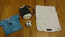 AMERICAN GIRL LOT SOCCER JERSEY BAG BALL TOWEL AG OFFICIAL OUTFIT SET DUFFLE