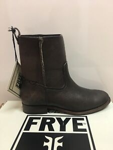 New - Women's Frye Cara Short Smoke Leather Boots Size 7