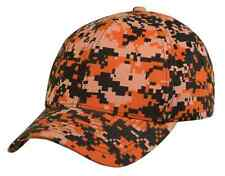 Camouflage Camo Baseball 6 Panel Low Crown Cotton Twill Hats Caps