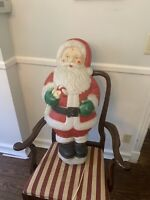 Vintage Santa Claus Stand Up Lighted Blo-Mold 32 Inch With Cord