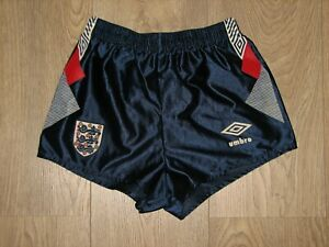 ENGLAND 1990-92 UMBRO FOOTBALL SHORTS SOCCER SIZE BOYS 66cms/26inch