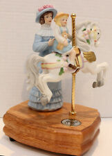 Vintage 1990 Music Box Carousel CollectionVictorian Mother/Child Carousel Waltz