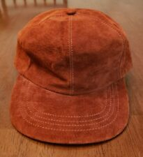 Vtg NWOT Deadstock LL Bean Brown Leather Strapback Hat Suede Ball Cap Hat USA