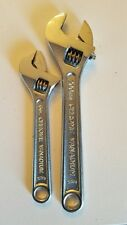 "TWO Adjustable Wrenches one 6"" and one 8""  Chrome Vanadium"