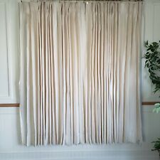 Vintage JC Penney Home Drapes Curtains Pinch Pleat Ivory 128W x 67L FULL Rayon