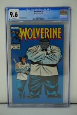 MARVEL COMICS CGC 9.6 WOLVERINE 8 6/89 WHITE PAGES