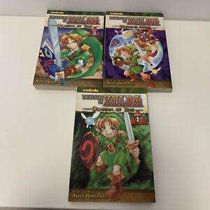 Legend of Zelda Manga Lot of 3 (Ocarina Vol 1&2, Majora's Mask) - FREE SHIPPING